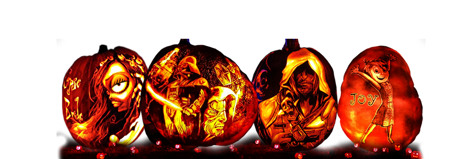 5 Carved Pumpkins